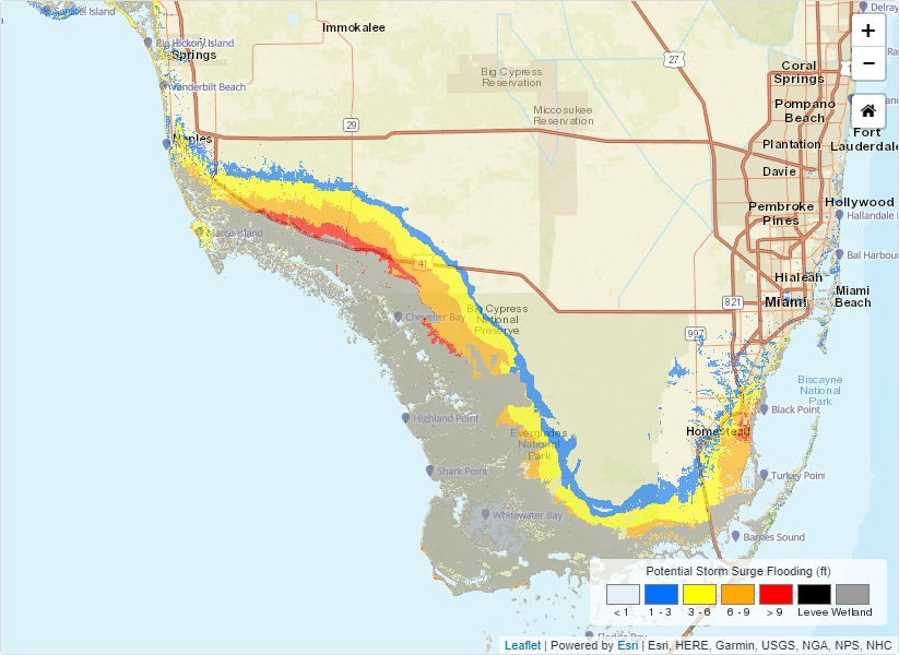 Nws Potential Storm Surge Flooding The Potential Storm Surge Flooding Map Was Developed By Nhc Over The Course Of Several Years In Consultation With Social